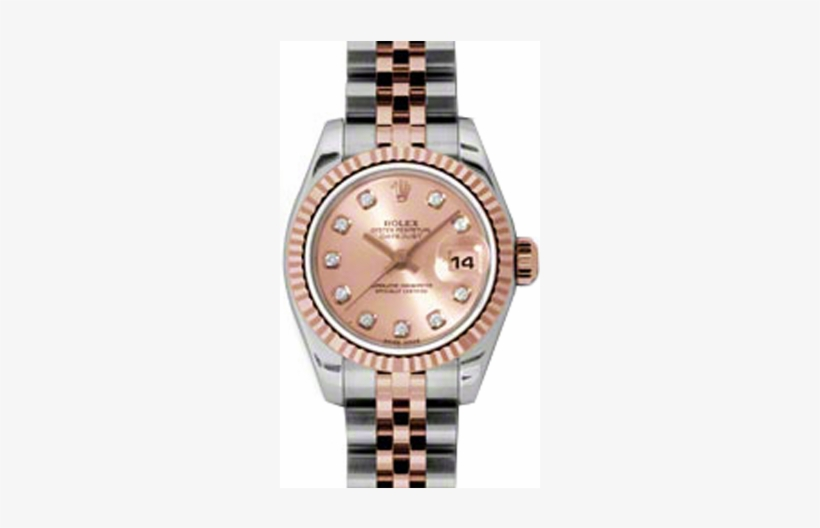 Rolex Lady Datejust Pchdj Pink Diamond Fluted - Rolex Meteorite Dial Rose Gold Datejust, transparent png #5427894