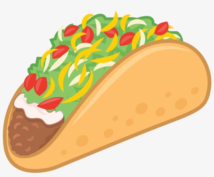 Taco Mexican Food Taco Emoji Vector Illustration - Clip ...