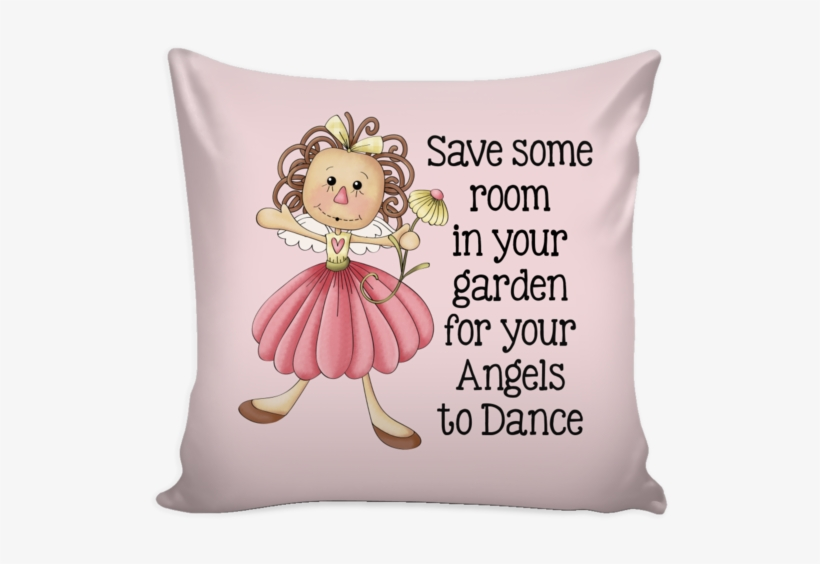 """Garden Angels Country Tole Design 16"""" Square Pillow - Throw Pillow, transparent png #5431315"""