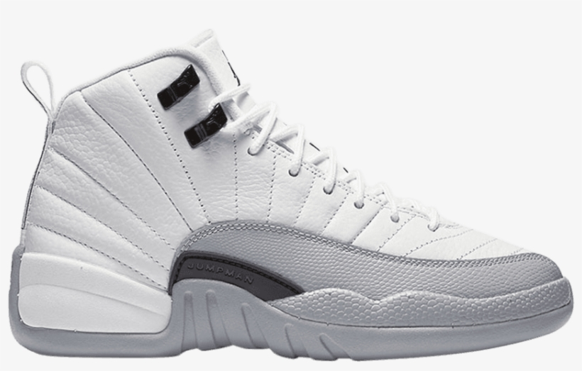 291eac5776fd5d Air Jordan 12 Retro Gs  wolf Grey  - Retro 12 Jordan Girl White Grey ...