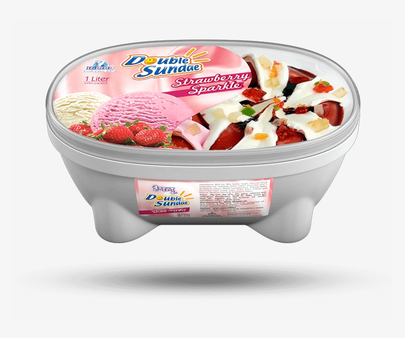 Strawberry Sparkle - Igloo Double Sundae Ice Cream, transparent png #5444395