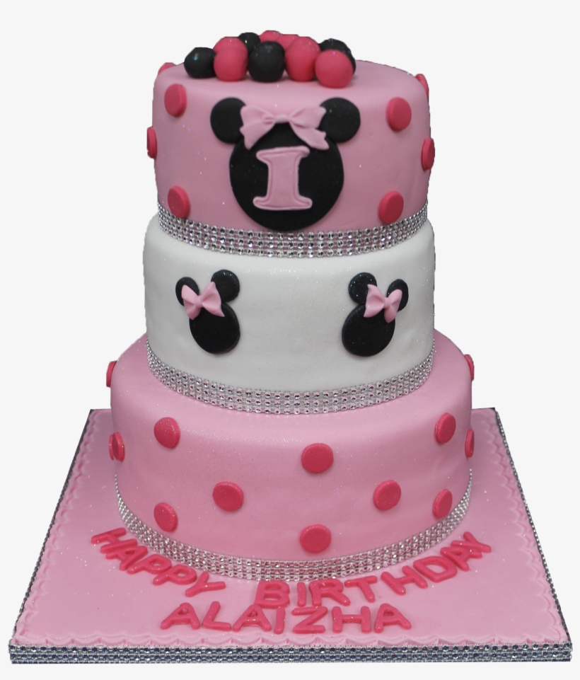 Wondrous Minnie Mouse 3 Tier B181 Birthday Cake Free Transparent Png Funny Birthday Cards Online Elaedamsfinfo
