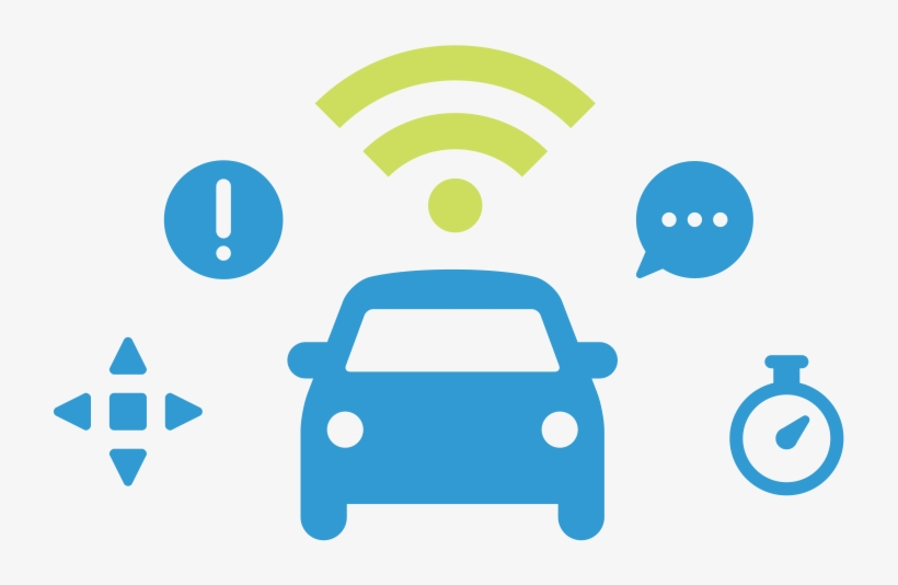 For A Glimpse Of The Automobile Of The Future, Take - Connected Car Icon Png, transparent png #5449889