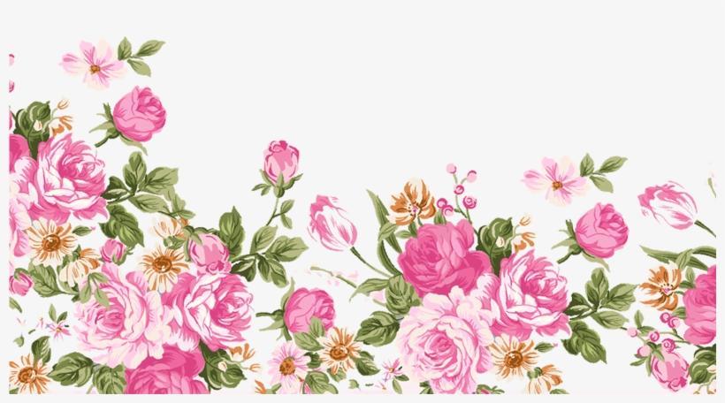 Dibujos Animados Hechos A Mano Con Flores Rosas