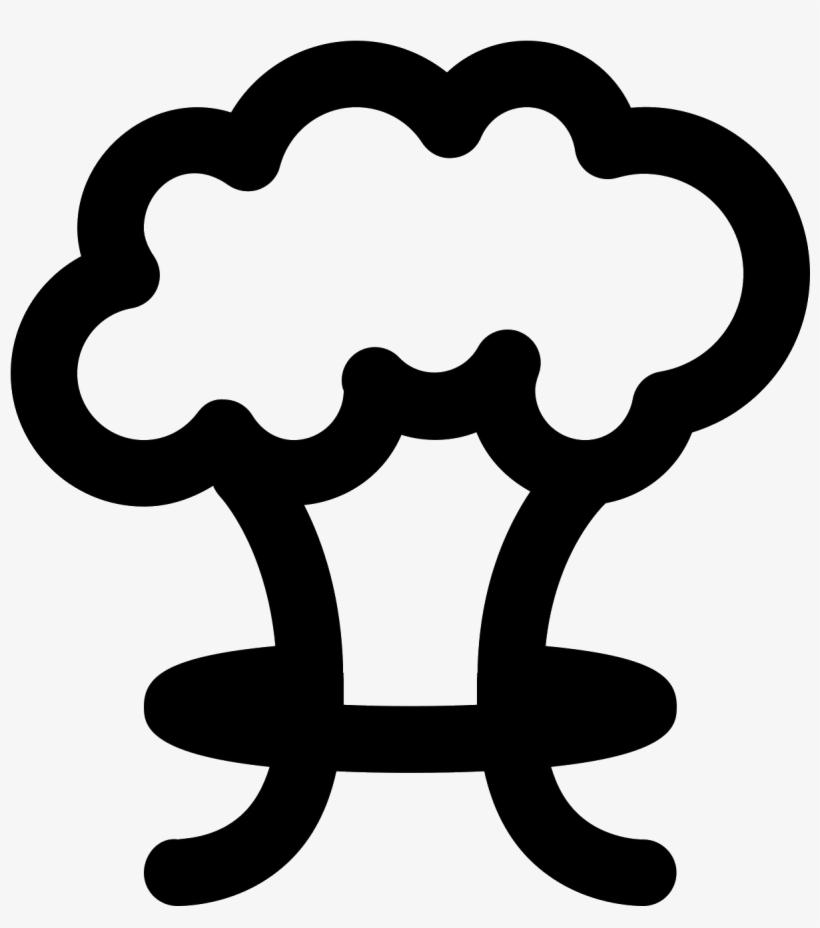 Grzyb Atomowy Icon - Mushroom Cloud, transparent png #5458743