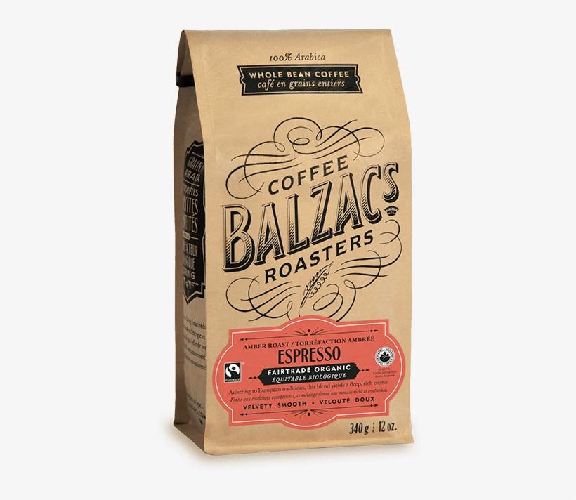 Espresso Blend Amber Roast Fairtrade Organic Coffee - Balzac's Blend Whole Bean Coffee, transparent png #5480483