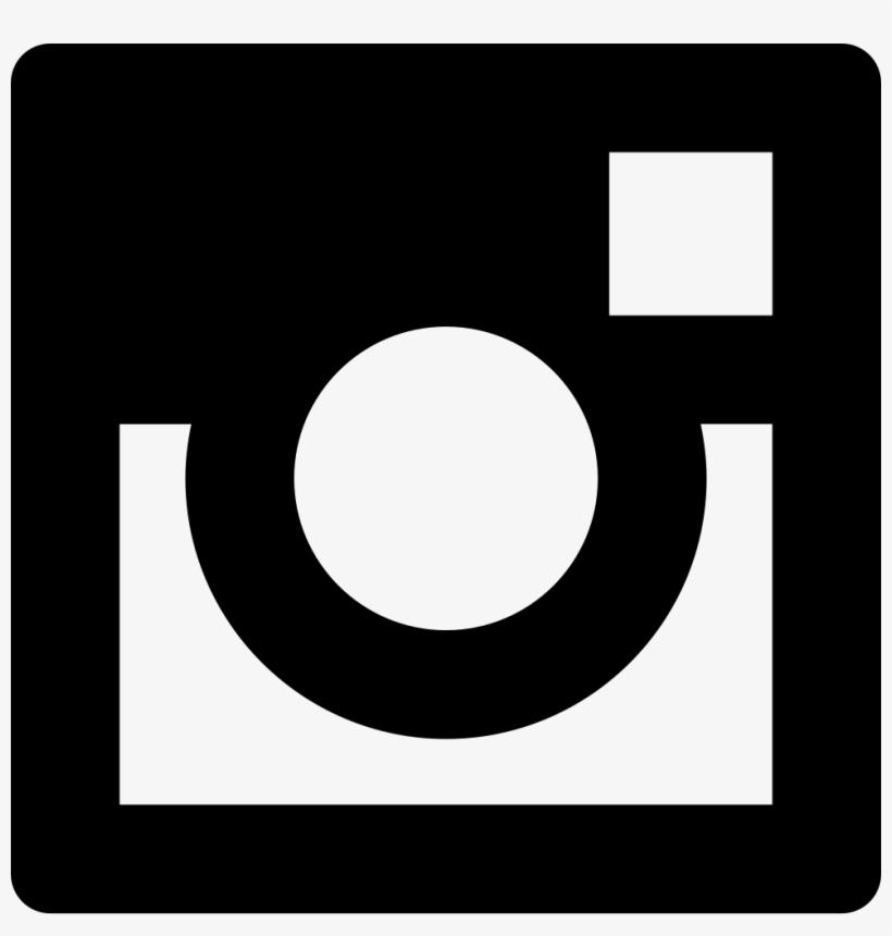 Social Instagram Free Icon - Instagram Logo Black Vector, transparent png #5481542