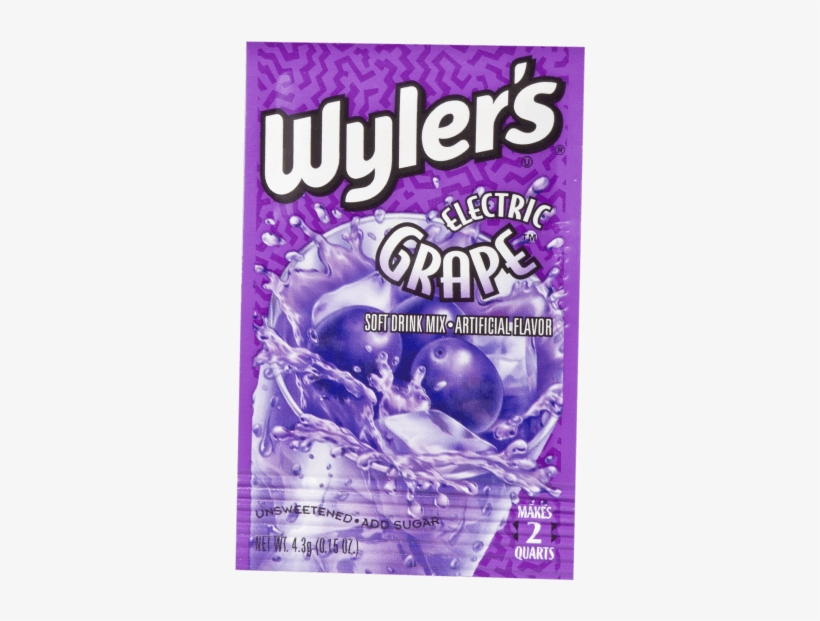 Wyler's Electric Grape - Wylers Soft Drink Mix, Electric Grape - 0.15 Oz, transparent png #5498397