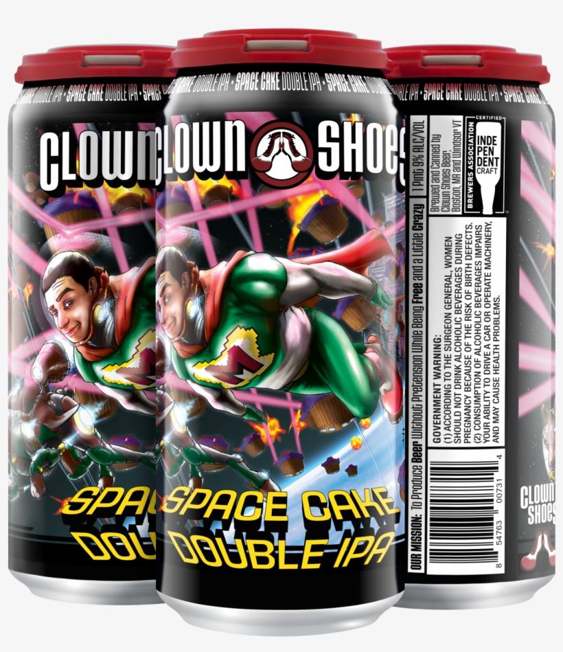 Clown Shoes Space Cake - Clown Shoes Space Cake Double Ipa - 22 Fl Oz Bottle, transparent png #5498499