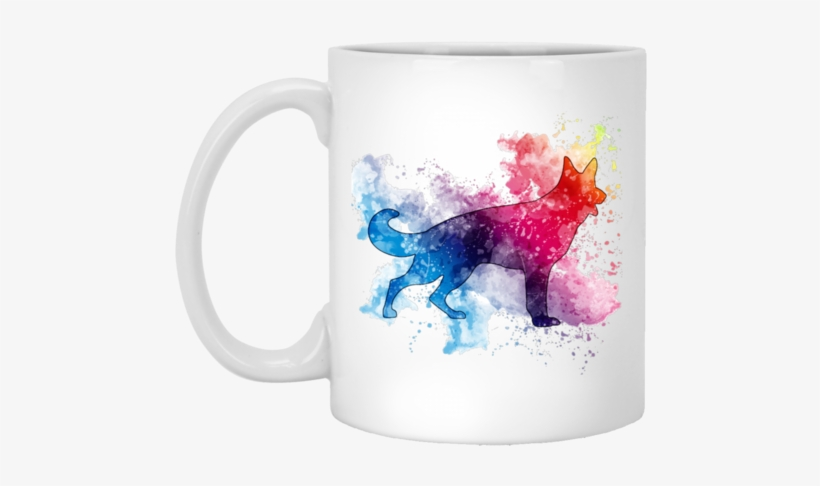 German Shepherd Watercolor 11 Oz - Ll Turn Out Alright In The End You Ll See, transparent png #550010