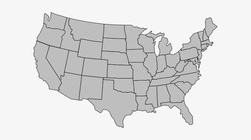 United States America Outline - United States Map Gray ...