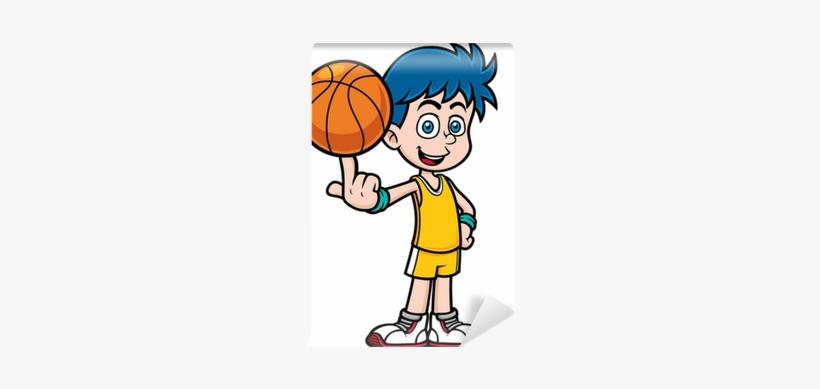 Vector Illustration Of Cartoon Basketball Player Wall - Imagenes Animadas De Basquetbol, transparent png #551349
