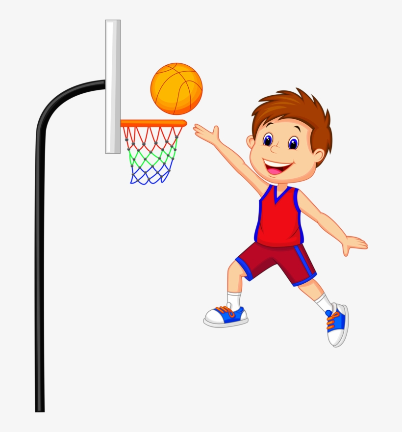 7 - Playing Basketball Clipart - Free Transparent PNG