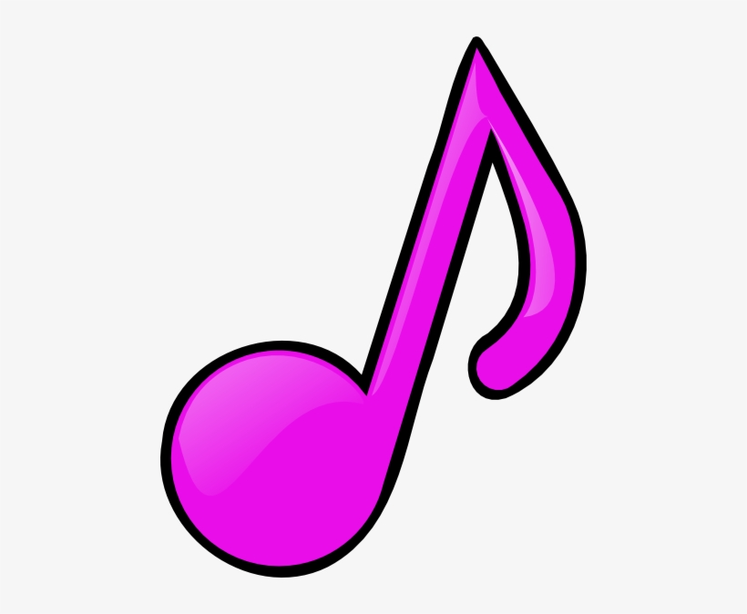 Music Notes Clipart Pink - Pink Music Note Clip Art, transparent png #551825