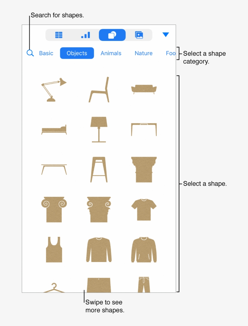 The Shapes Library, With Categories At The Top And - Geometric Shape, transparent png #552552