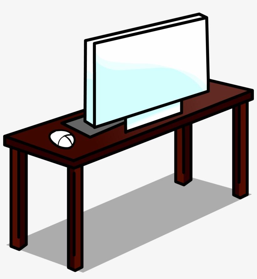 Computer Desk Sprite 006 - Computer On Desk Clip Art, transparent png #552635