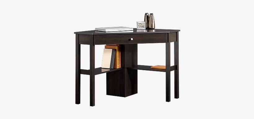 Casual One-drawer Corner Computer Desk In Cinnamon - Sauder Beginnings Corner Computer Desk Cinnamon Cherry, transparent png #553076