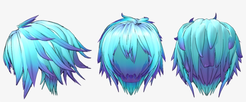 Image Result For Anime Guy Side View Png Anime Guy Mmd Blue Hair Free Transparent Png Download Pngkey