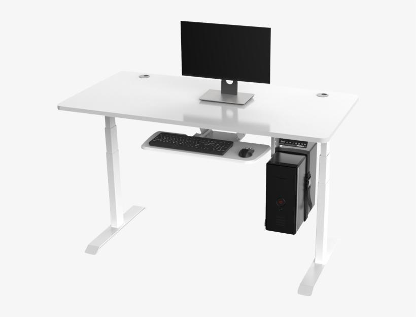 Electric Height-adjustable Standing Desk - Standing Desk, transparent png #553235
