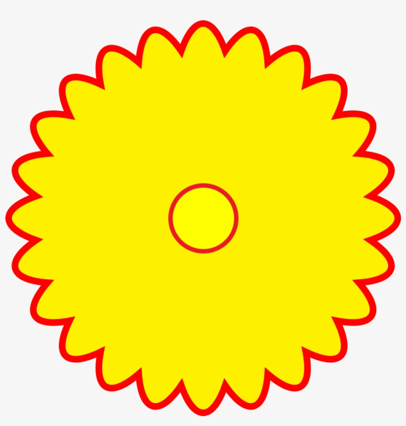 Free Logo Yellow Flower Shaped Red Outline Png Format 85830 000