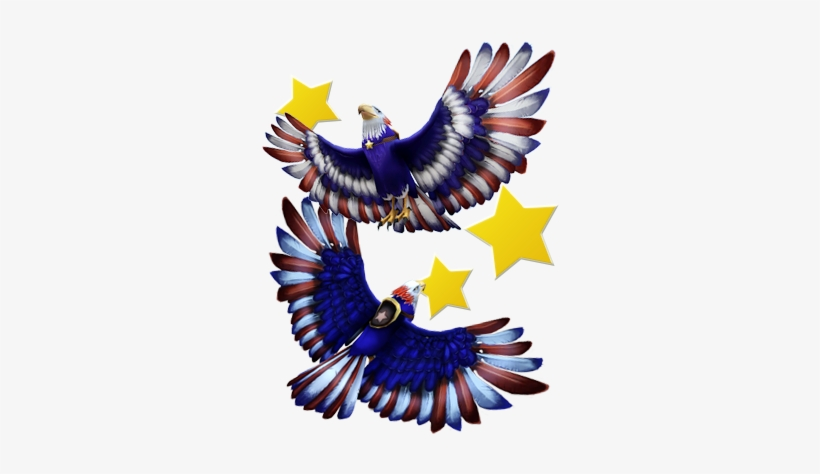 Eagle Transparent Red White Blue Red White And Blue Eagle Free