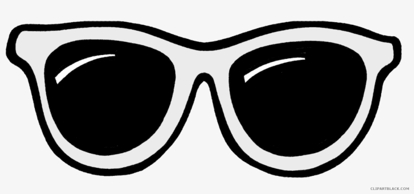 Sun Glasses Svg Transparent Black And White - Clip Art Sunglasses Png, transparent png #554289
