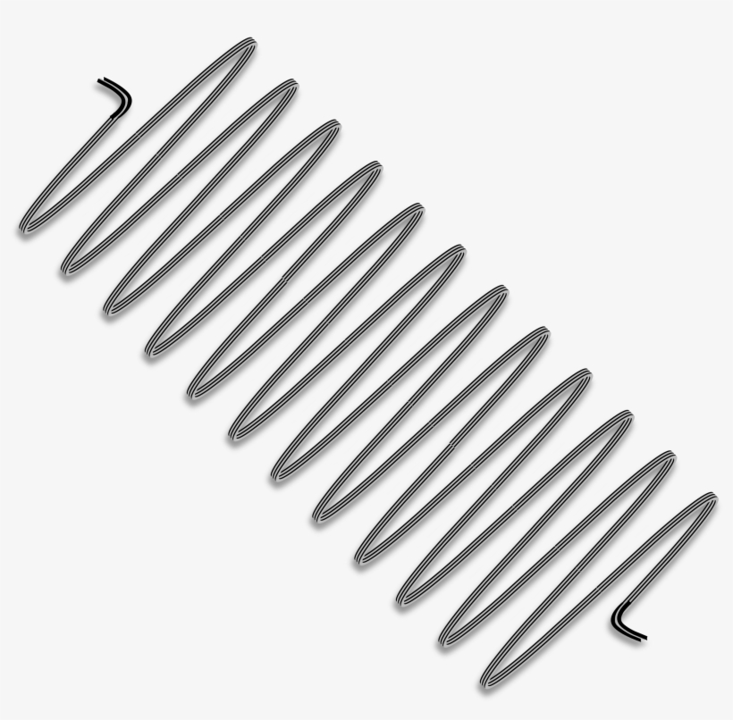 Mechanical Spring Png Jpg Freeuse - Coiled Spring Clip Art, transparent png #554341