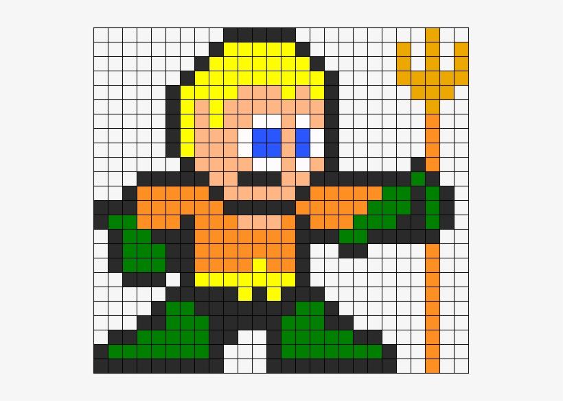 Aquaman Perler Bead Pattern Minecraft Pixel Art One Punch