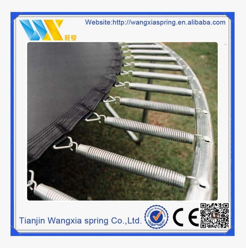 High Strength Double Free Length Spring Steel Trampoline - Worlds Biggest Springs On Trampoline, transparent png #555855