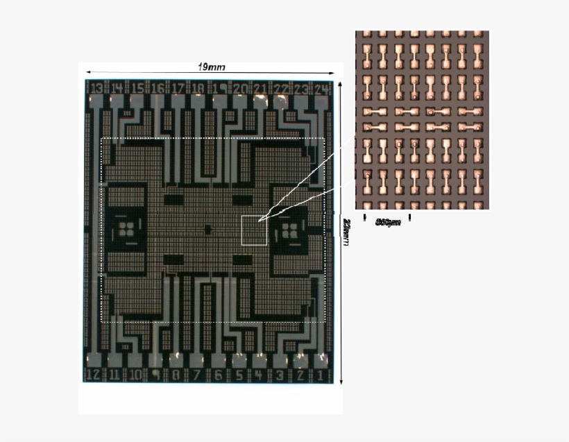Matching Pad Chip With Single Layer Metal Traces Only - Floor Plan, transparent png #556036