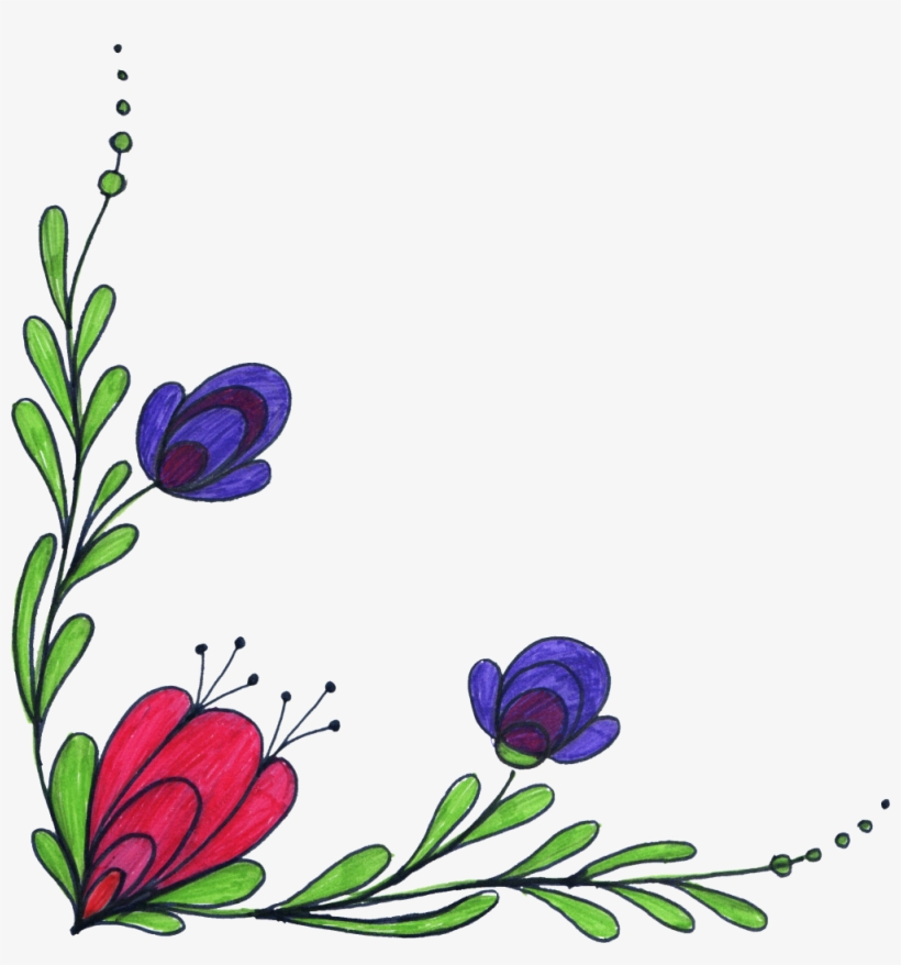 Png File Size - Flower In Corner Transparent Background, transparent png #556156