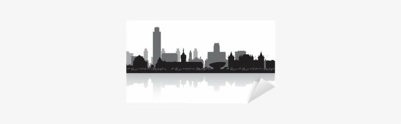 Albany New York City Skyline Silhouette Sticker • Pixers® - Albany Skyline Silhouette, transparent png #559040