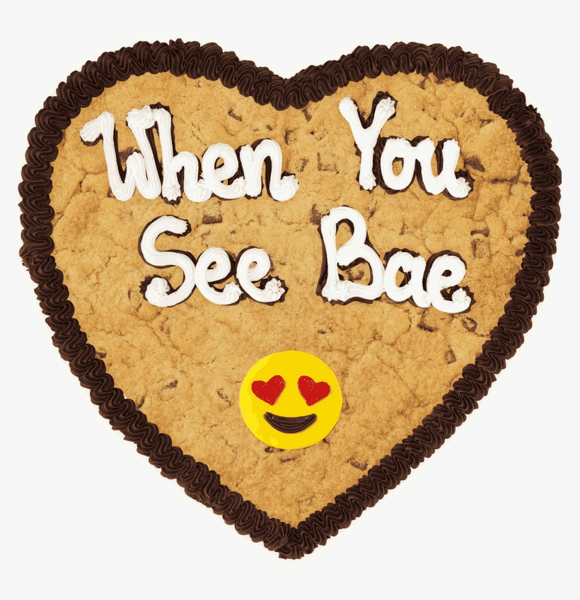 Emoji Heart Heart Milk Choc Single Layer - Cookie, transparent png #5511307