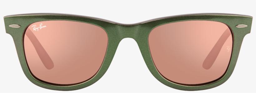 Ray Ban Wayfarer Green Frames Png - Mens Ray Bans Sunglasses On Face, transparent png #5511730