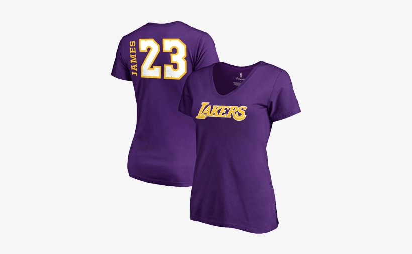 Los Angeles Lakers Women's Lebron James Side Sweep - Los Angeles Lakers, transparent png #5519820