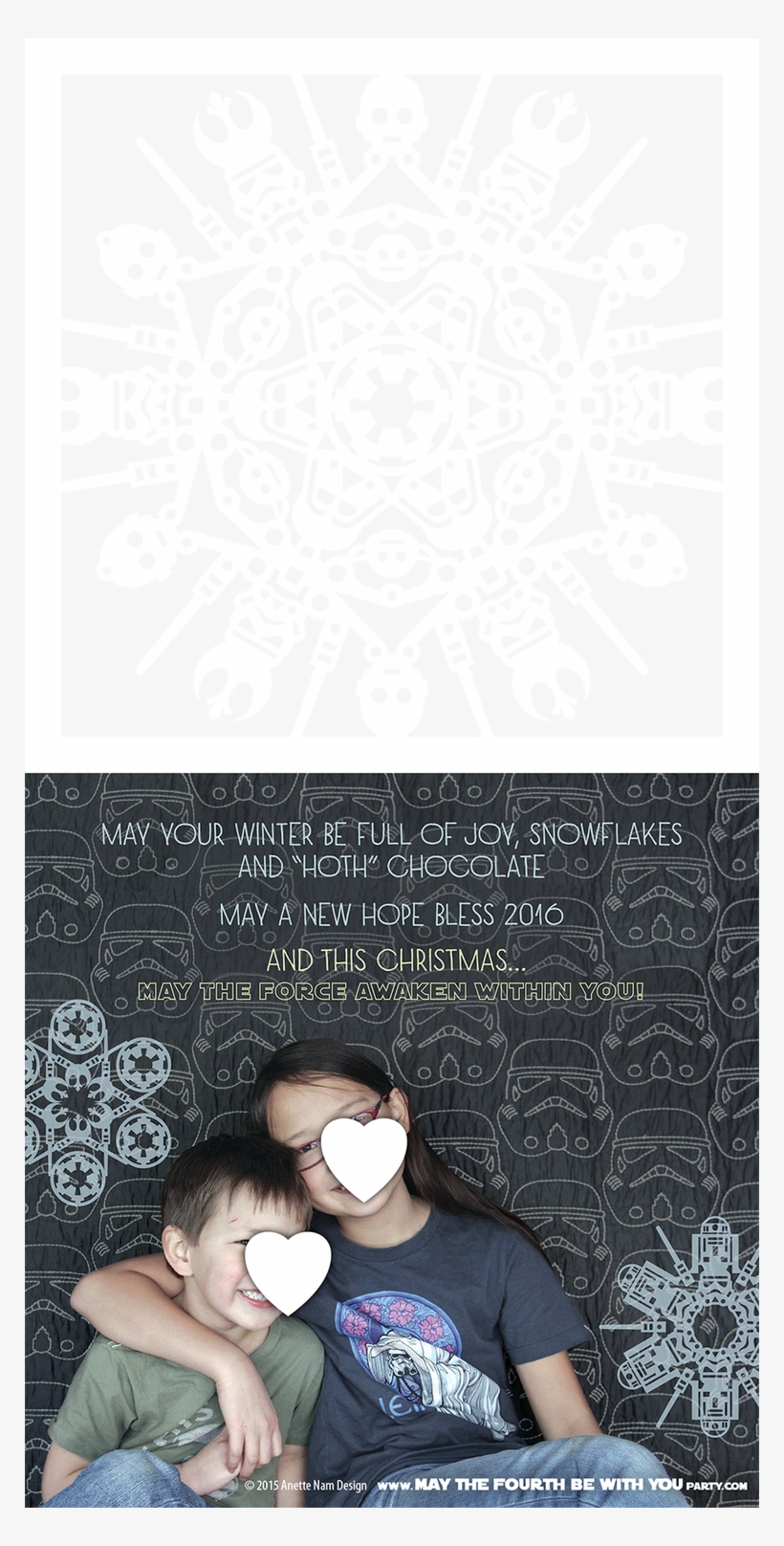 Star Wars Themed Christmas Card With Star Wars Snowflakes - Star Wars, transparent png #5522068