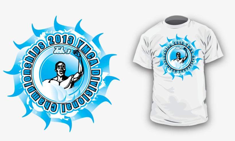 Popular T Shirt Design - Swim Championship T Shirt Designs, transparent png #5530280