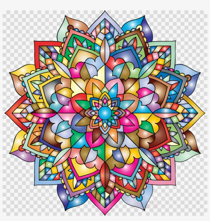 Mandala Png Color Clipart Coloring Mandalas 1 Coloring ...