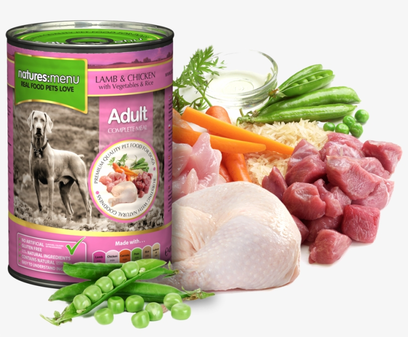 Natures Menu Dog Food Can Lamb With Chicken - Natures Menu Dog Food Lamb & Chicken, transparent png #5538239