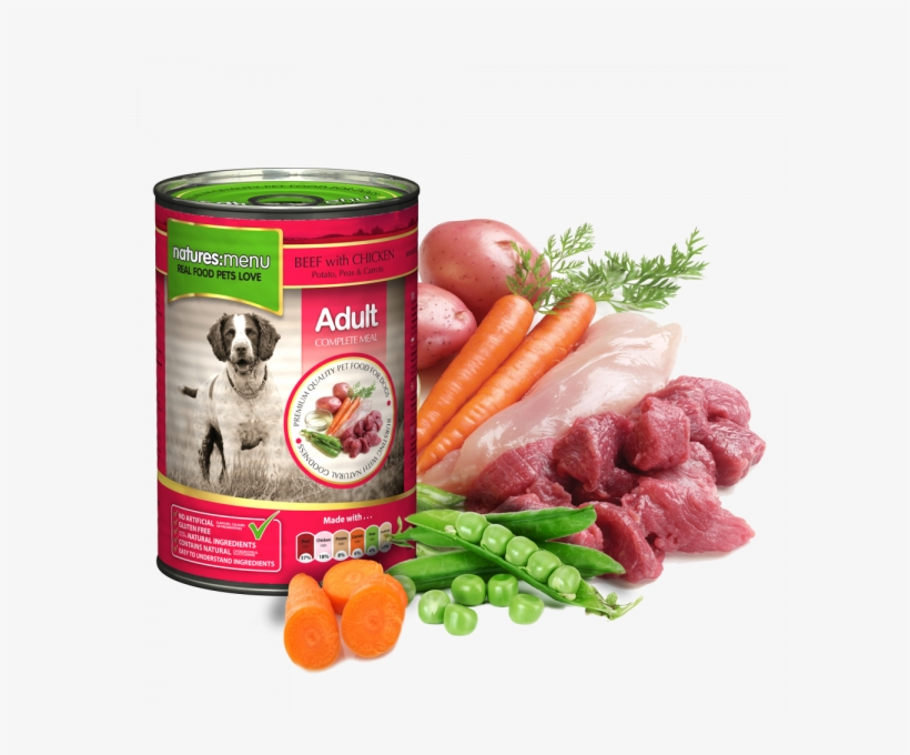 Natures Menu Dog Food Can Beef With Chicken - Natures Menu Beef With Chicken Dog Food Can 400g, transparent png #5539193