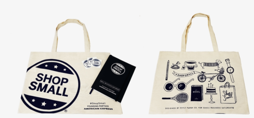 Shop Small Bag, Notebook, & Tattoos - Small Business Saturday Tote Bags, transparent png #5550716
