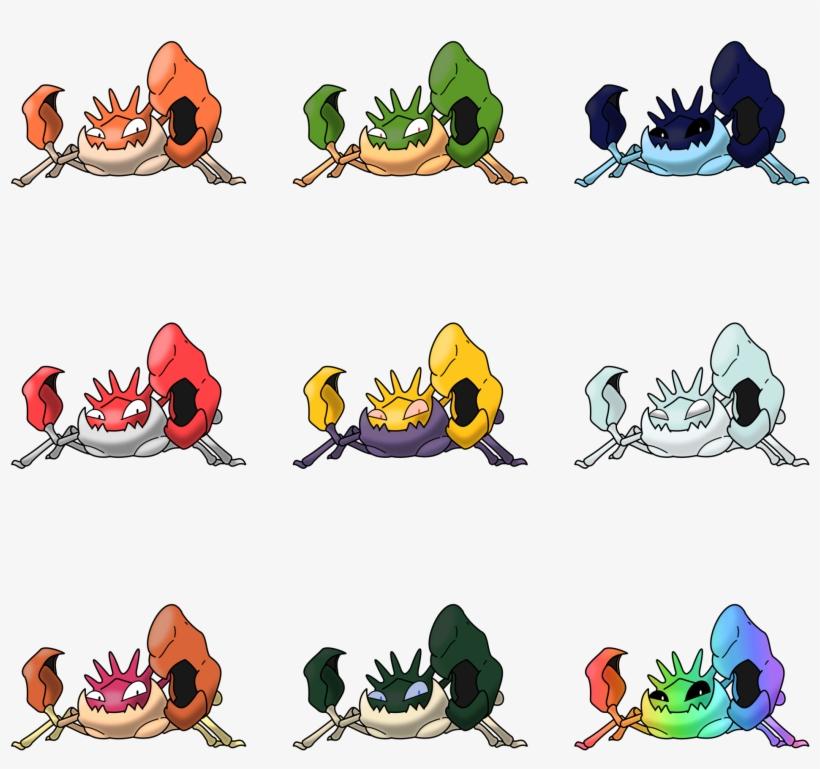 Kingler Recolours - Pokemon Kingler, transparent png #5565557