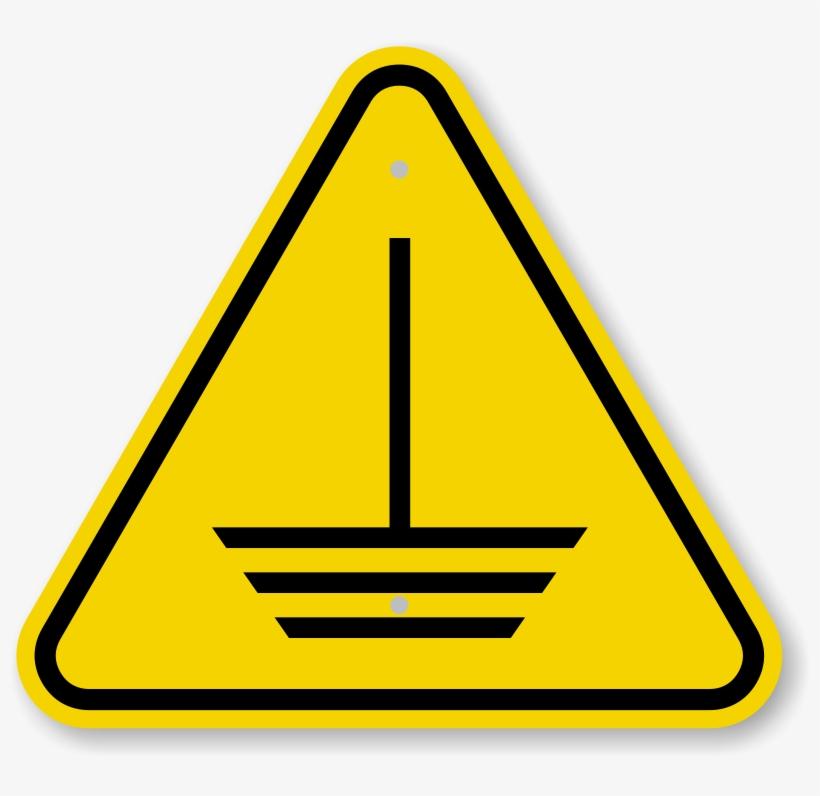 Iso Electric Ground Hazard Symbol Warning Sign - Fall Hazard Sign, transparent png #5582353