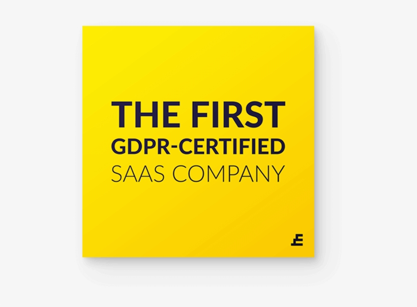 The First Gdpr Certified Saas Company - Understanding Behavior Inc, transparent png #5597086