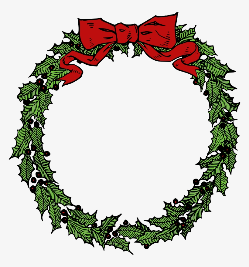 Wreath Clipart Vintage Christmas Wreath - Christmas Wreath Png, transparent png #563044