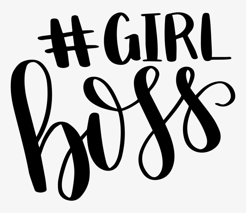 Hand Lettered Girl Boss Print Cut File