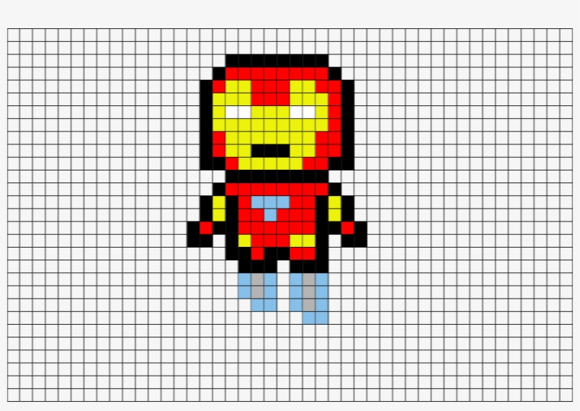 Dessin Pixel Art Iron Man Free Transparent Png Download