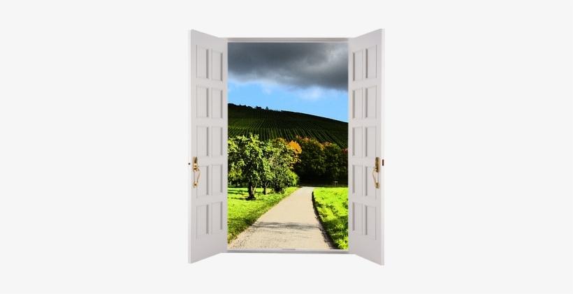 A Wide Open Door Where Your Foopet Can Watch The Storm - Garage Door, transparent png #566918