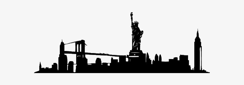 Skyline New York Silhouette, transparent png #567965