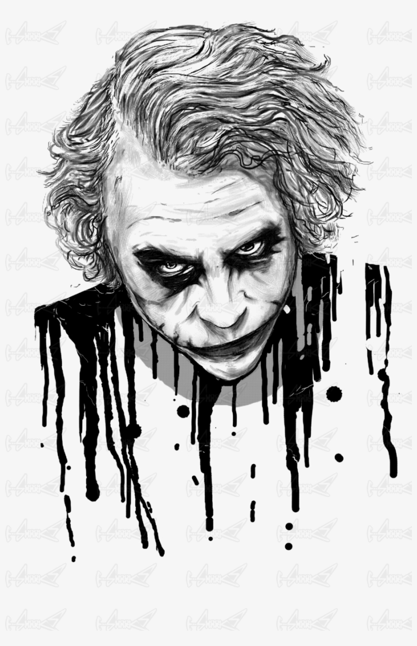 The joker t joker art black and white